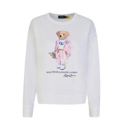 White Polo Picnic Bear Sweatshirt