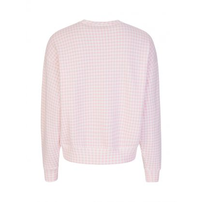 Pink Gingham Fleece Sweatshirt
