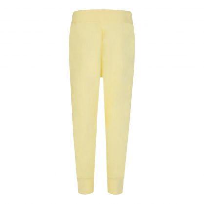 Yellow Fleece Logo Sweatpants