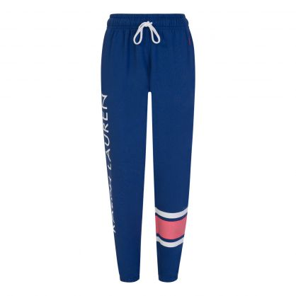 Navy Fleece Logo Sweatpants