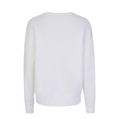 White Bandana Bear Fleece Sweatshirt