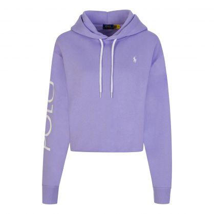 Lavender Cropped Fleece Hoodie
