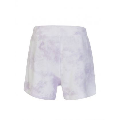 Purple Robin Tie-Dye Shorts