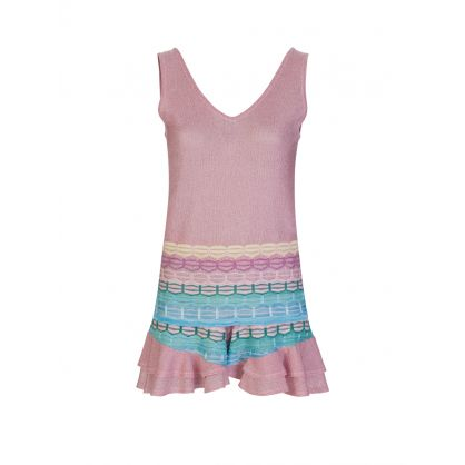 Pink/Blue Striped Frill Shorts