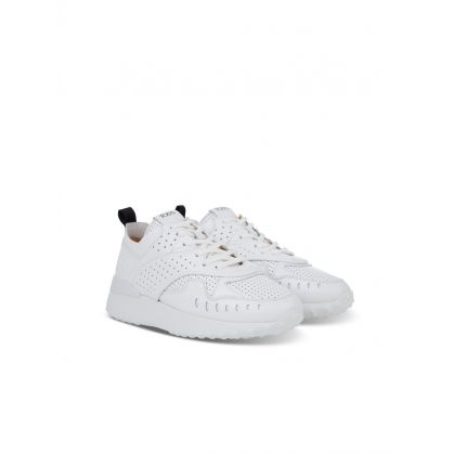 White Maxi Rubber Chunky Trainers
