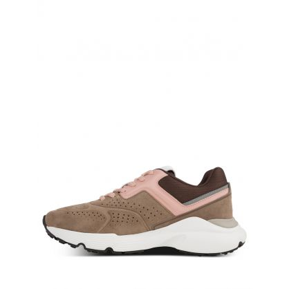 Brown/Pink Suede Trainers