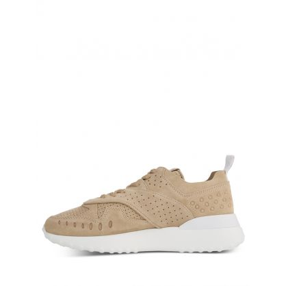 Beige Suede Trainers