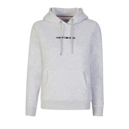 Grey Linear Logo Hoodie