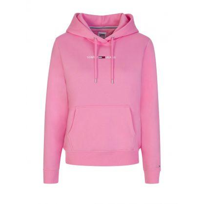 Pink Linear Logo Hoodie