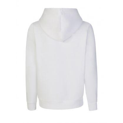 White Logo Hoodie