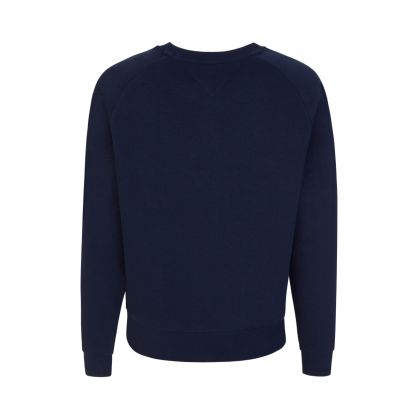 Navy Boxy-Fit Timeless Logo Sweatshirt