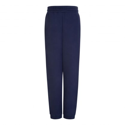 Navy Relaxed Badge Sweatpants