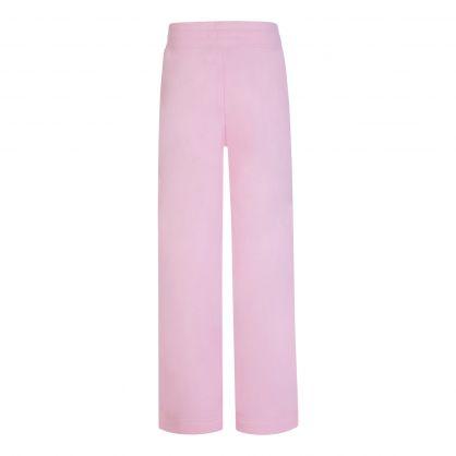 Pink Wide Leg Logo Sweatpants