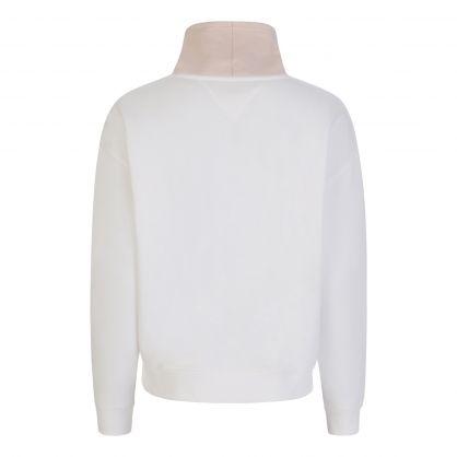 Tommy Hilfiger Jeans White Funnel Neck Sweatshirt