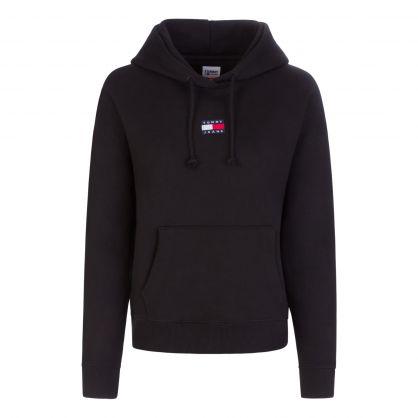 Black Centre Badge Popover Sweatshirt