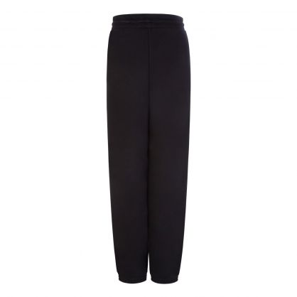 Black Relaxed-Fit Badge Logo Sweatpants