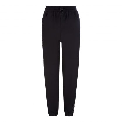 Tommy Jeans Black Relaxed-Fit Repeat Logo Tape Joggers