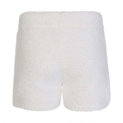 Cream Relaxed-Fit Noreen Knit Shorts