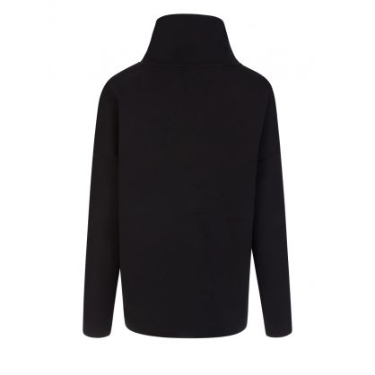 Black Barton Funnel Neck Sweatshirt