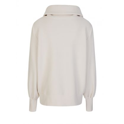 Cream Vine Half-Zip Rib Sweatshirt
