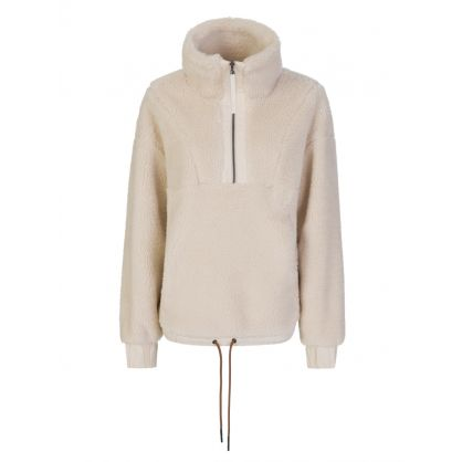 Cream Appleton Half-Zip Sweatshirt
