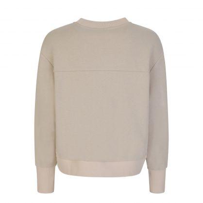 Green Edith Ribbed Pique Sweatshirt