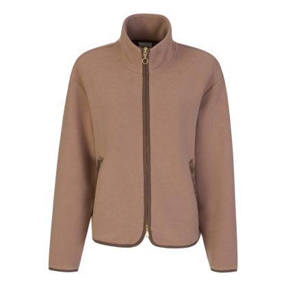 Brown Berendo Zip-Through Jacket