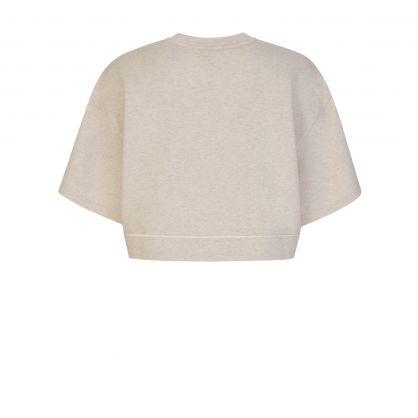 Beige Fenton Cropped Sweatshirt