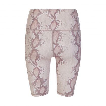 Brown Albury Snakeskin Shorts