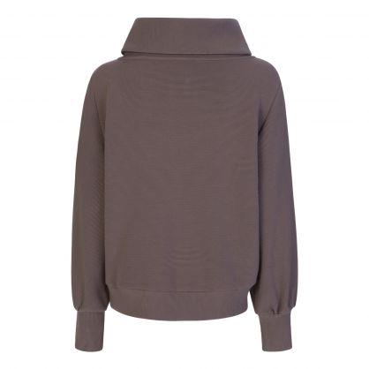 Grey Vine Half-Zip Sweatshirt