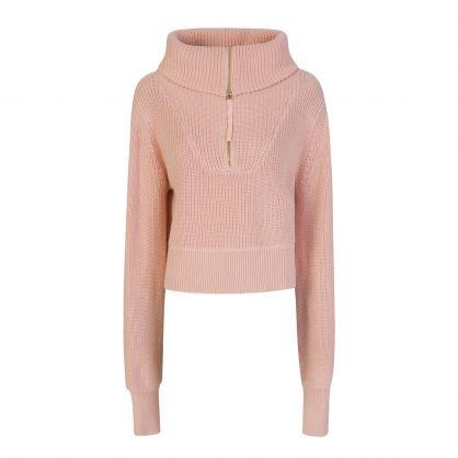 Pink Mentone Half-Zip  Jumper