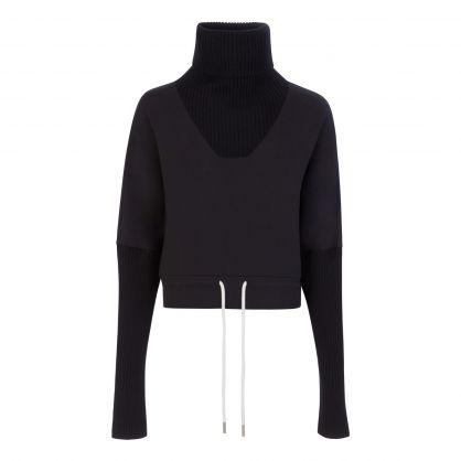 Black Britannia Knitted Sweatshirt