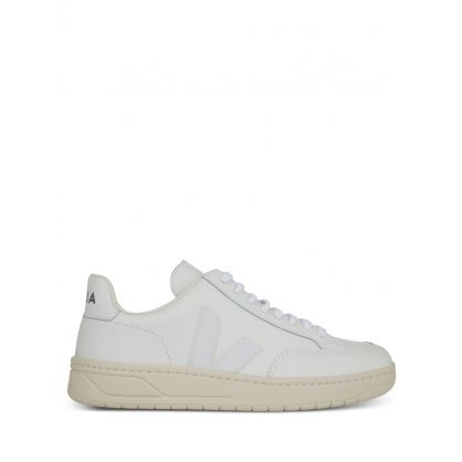 White V-12 Leather Trainers