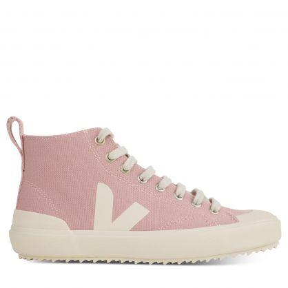 Pink/White Nova Canvas High-Top Trainers