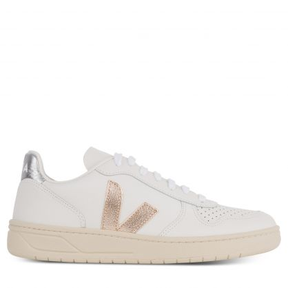 V-10 Leather Extra White/Silver Trainers