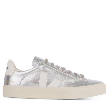 Silver/White Campo Chromefree Trainers
