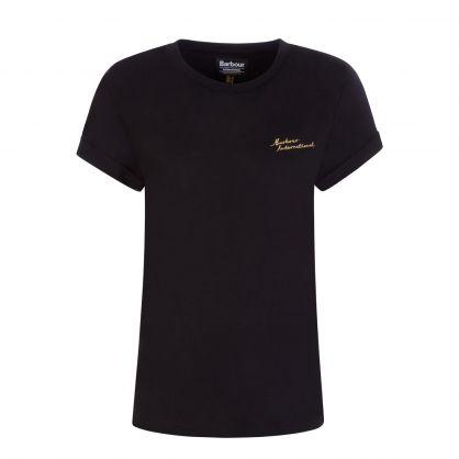 International Black Chequer T-Shirt