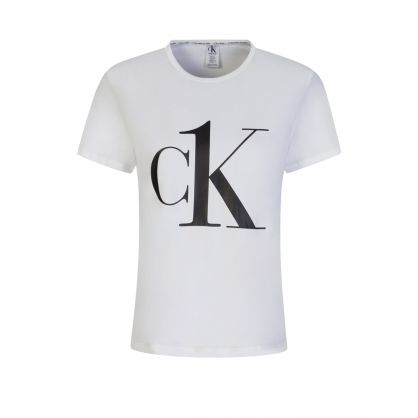 White CK One Logo T-Shirt