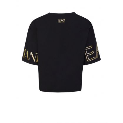Black Logo Cropped T-Shirt