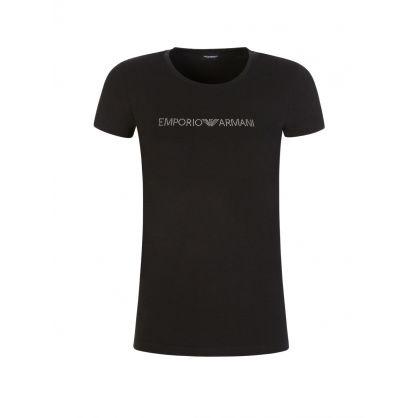 Black Studded Logo T-Shirt