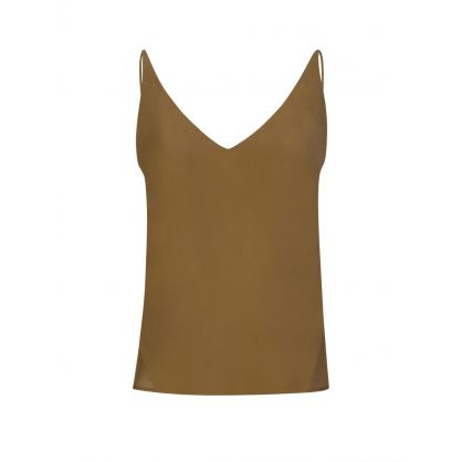 Brown Silk Lucy Cami Top