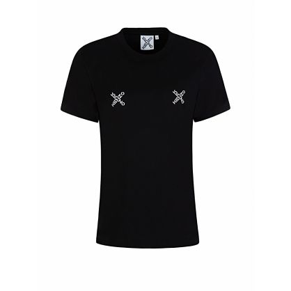 Black Loose-Fit Cross Logo T-Shirt