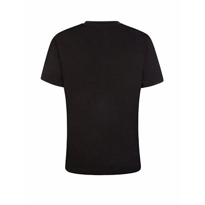 Black Loose-Fit Embossed Tiger T-Shirt