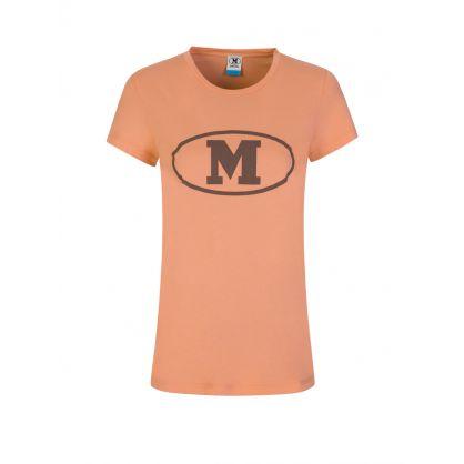 Orange Logo Print T-Shirt