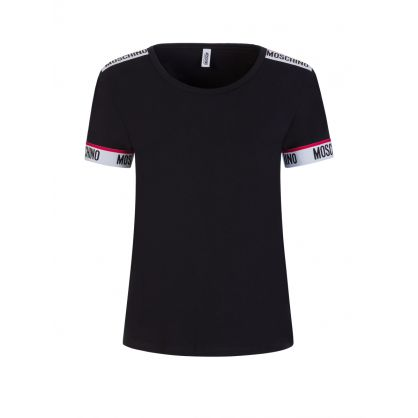 Black Logo Tape Short-Sleeve T-Shirt
