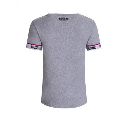 Grey Logo Tape Short-Sleeve T-Shirt