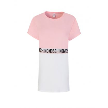 Underwear Pink/White Colourblock T-Shirt Dress