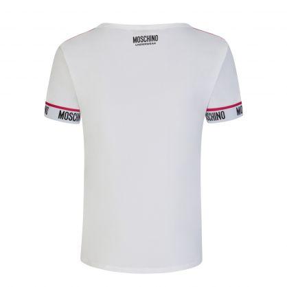 White Underwear Tape Logo T-Shirt