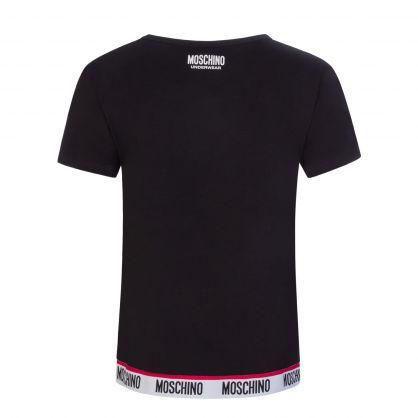 Black Underwear Tape Logo T-Shirt