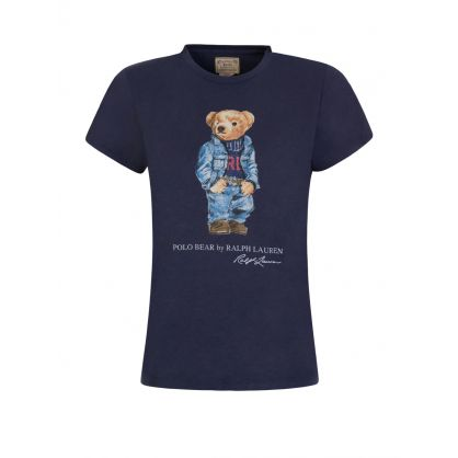 Blue Denim Bear T-Shirt
